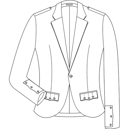 Production drawing blazer. Tailor at drum menswear