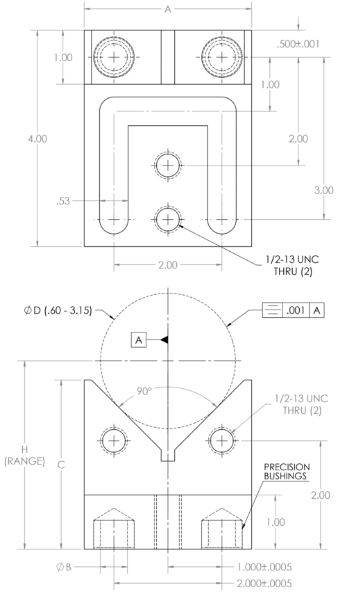 Rod drawing production. Fixture plates v flange