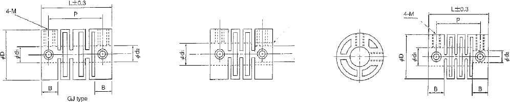 Production drawing universal coupling. Plastic body shaft catalogue