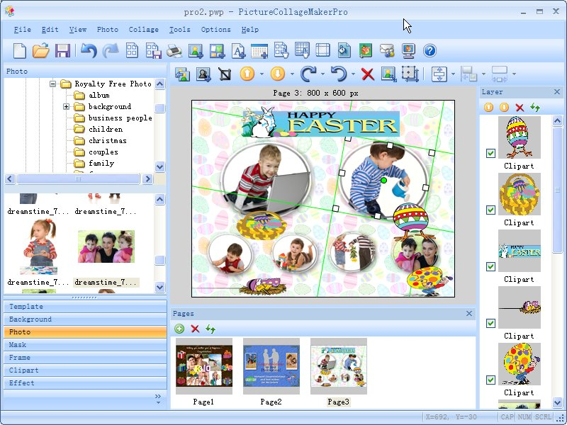 Professional clipart collage. Photo maker picture pro