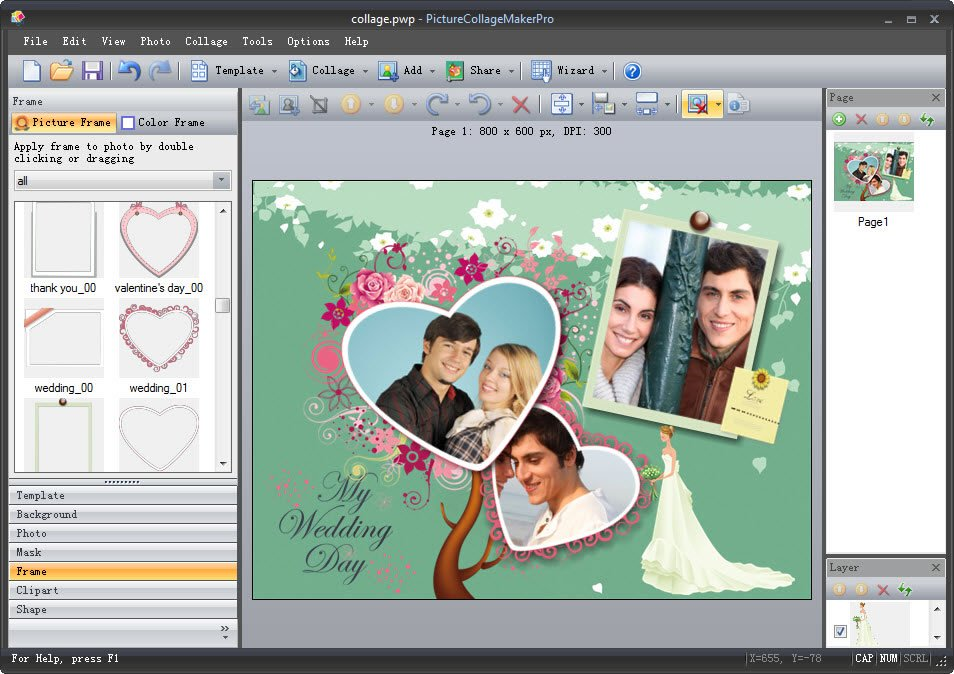 Professional clipart collage. Picture maker for mac
