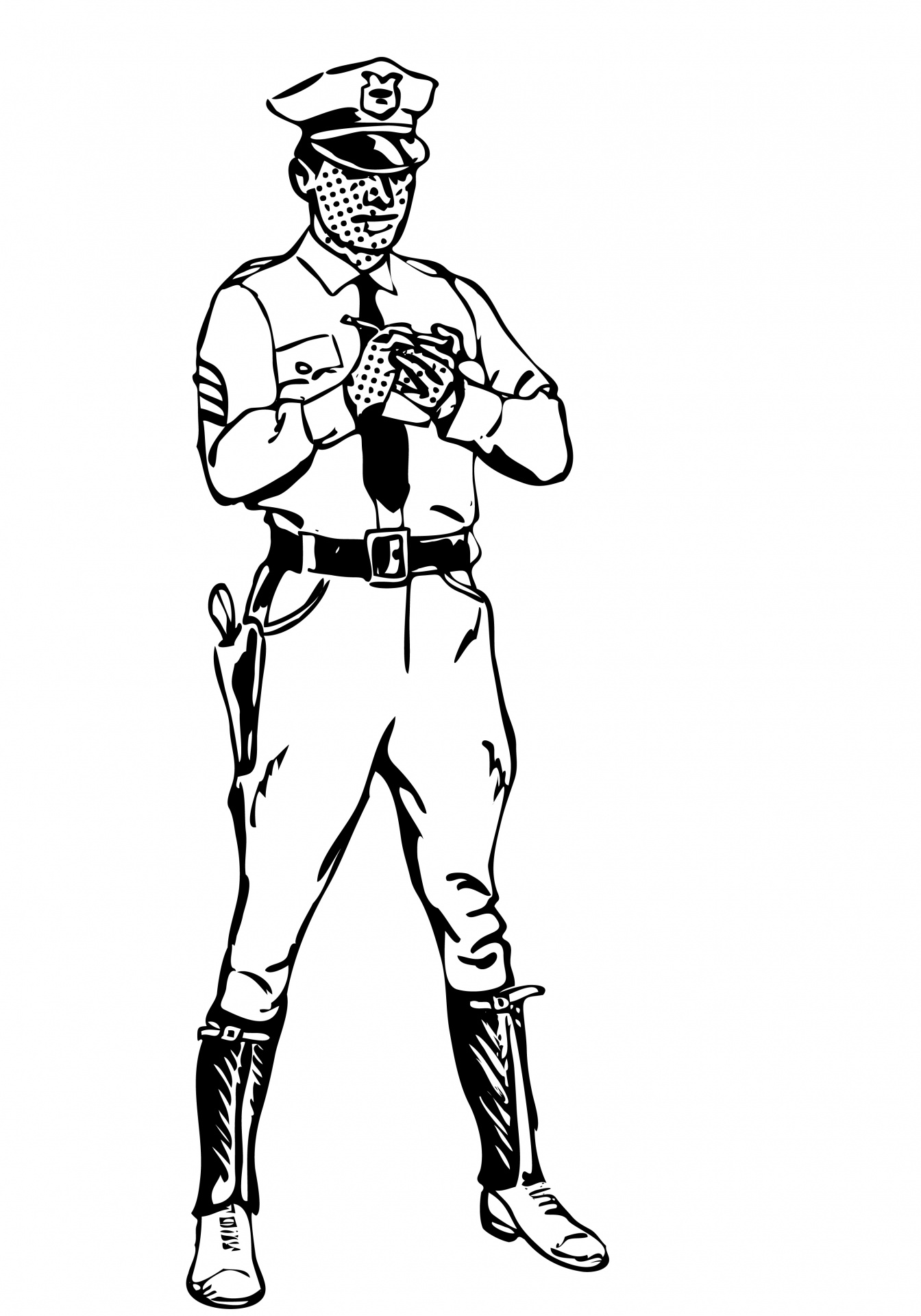 Cop clipart black and white. Police officer free stock
