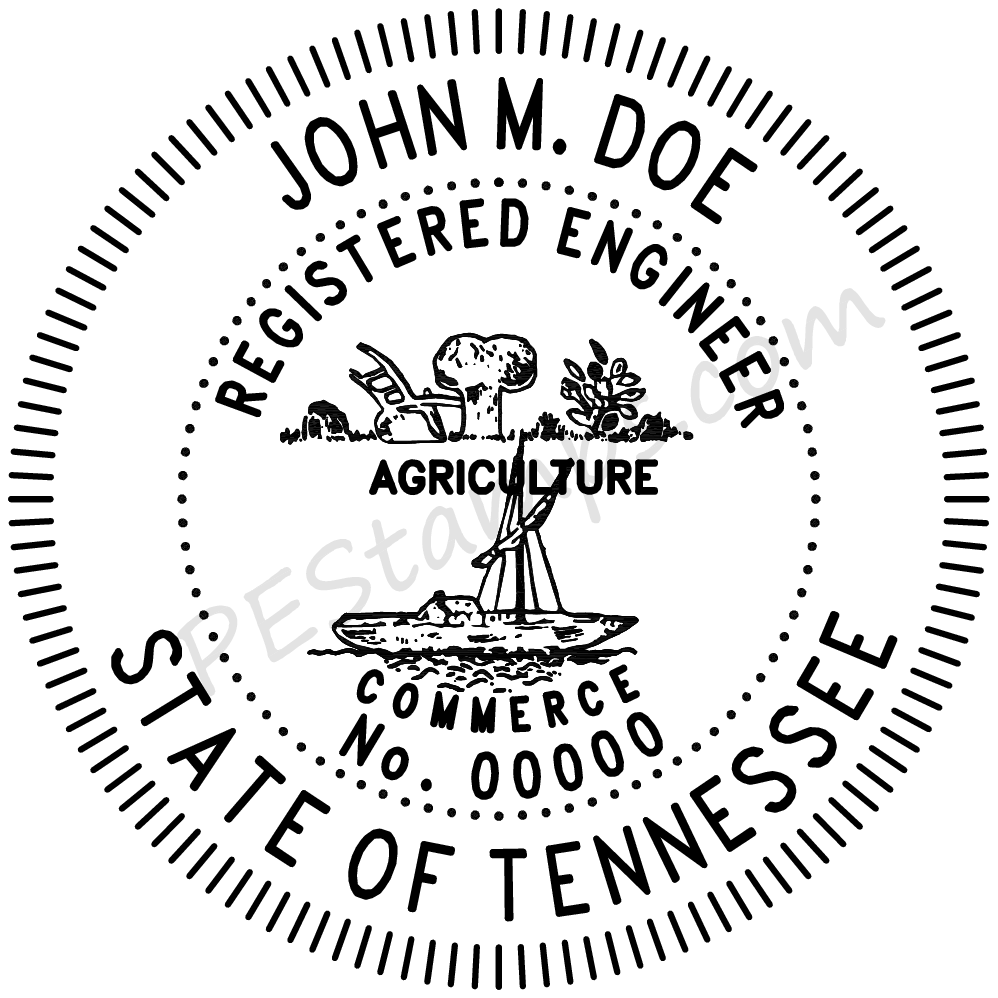Professional clipart professional engineer. Tennessee stamp pe stamps