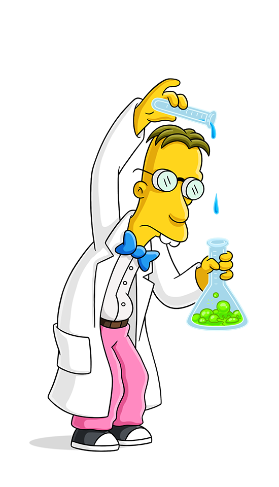 Professor clipart old professor. Frink simpsons world on