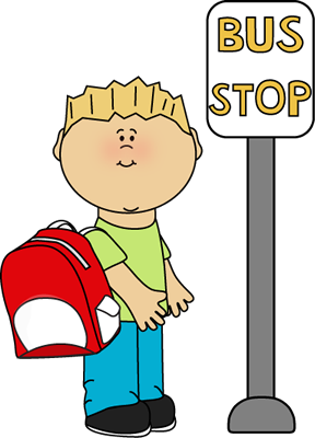 Stop clipart cartoon. Bus animation school teacher