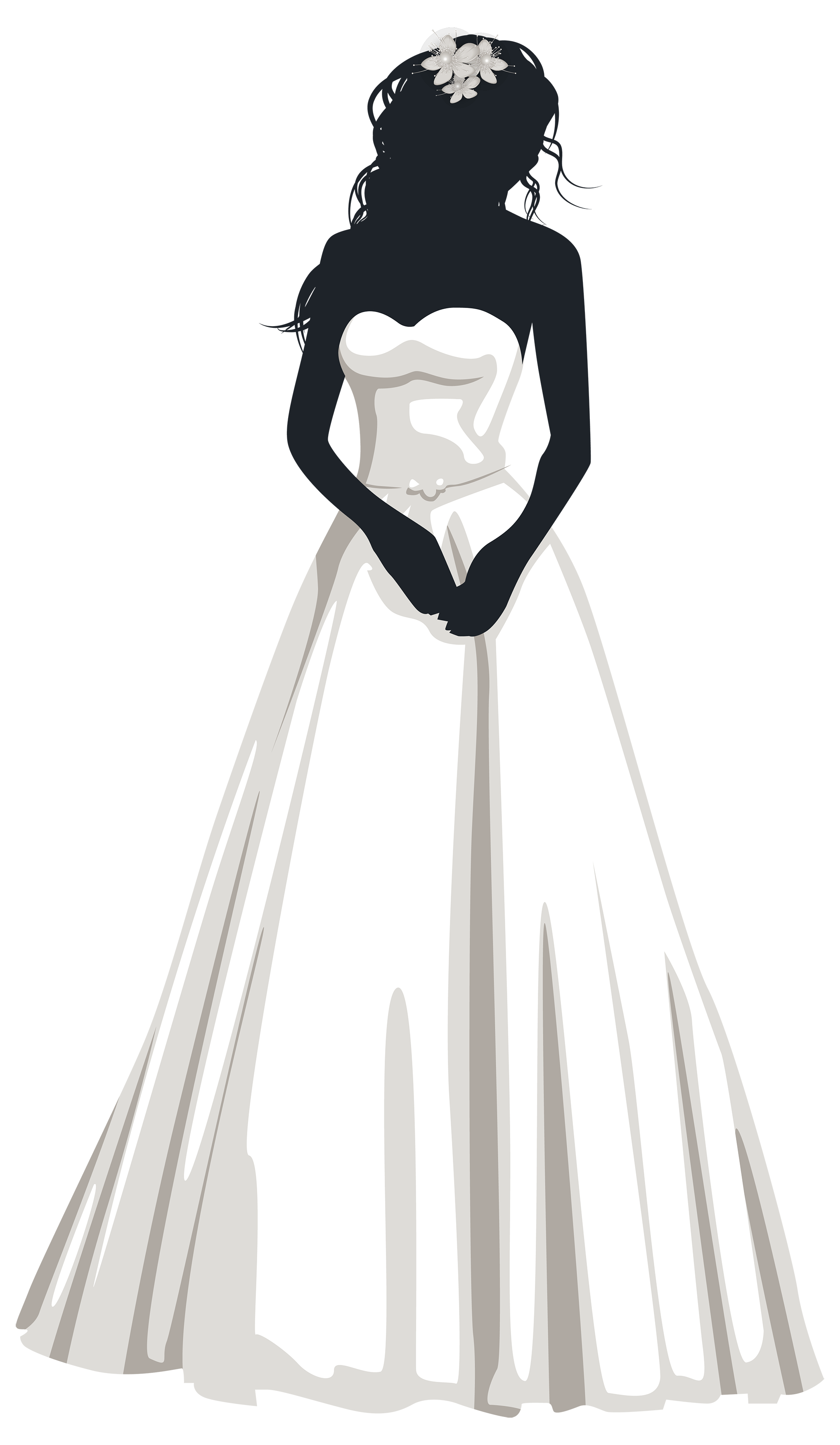 wedding dress silhouette png