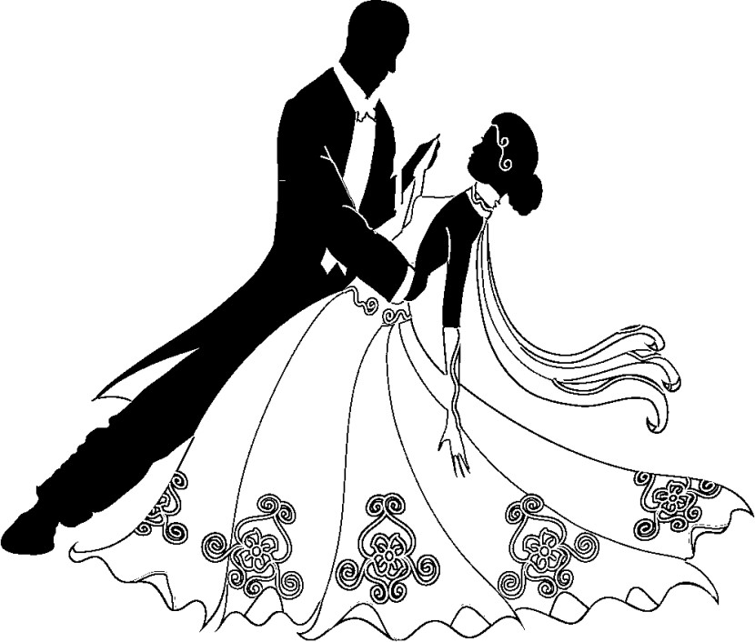 Prom clipart bride groom dance. Bridal png collection wear