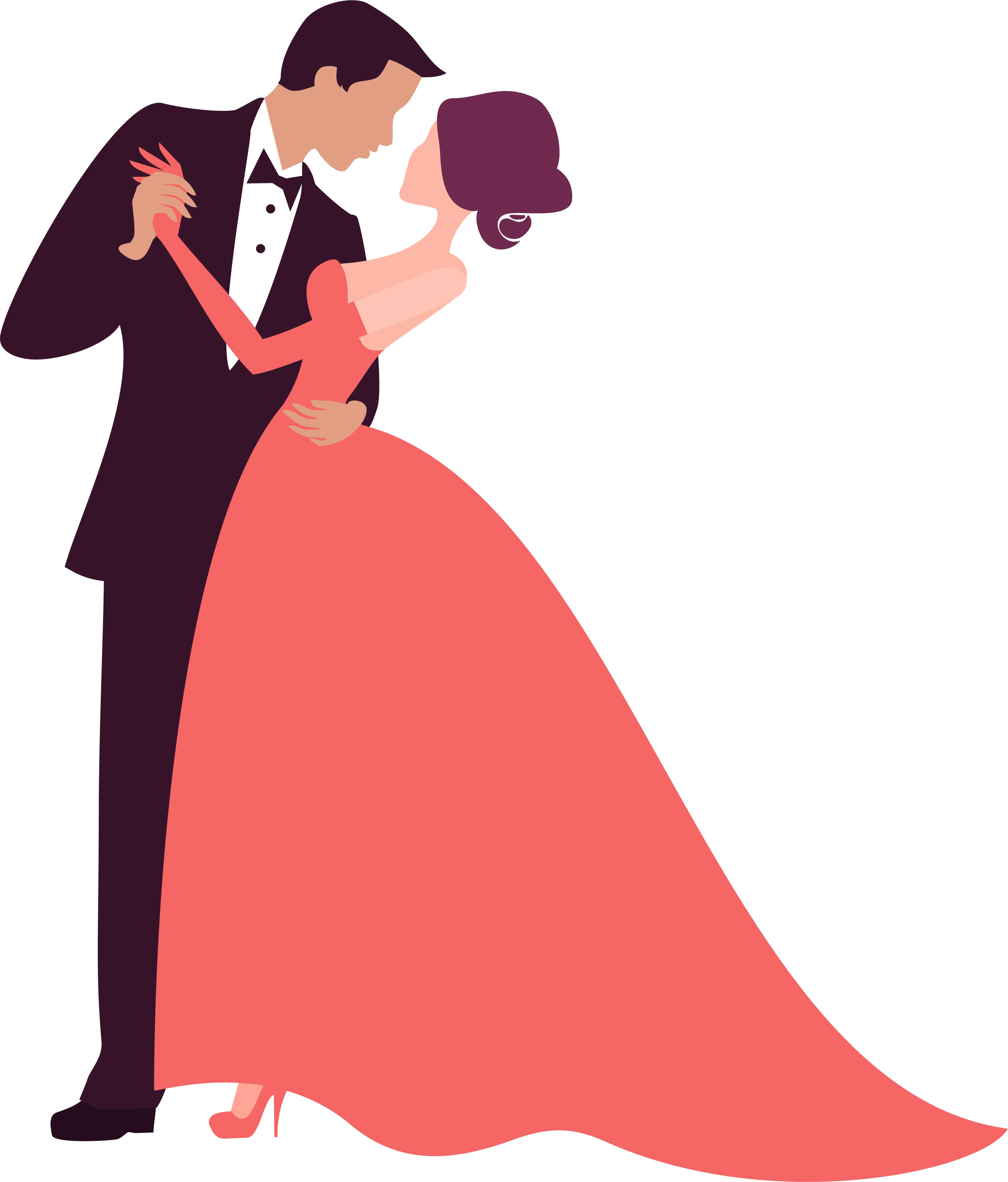 Prom clipart bride groom dance. Decoration clip arts for