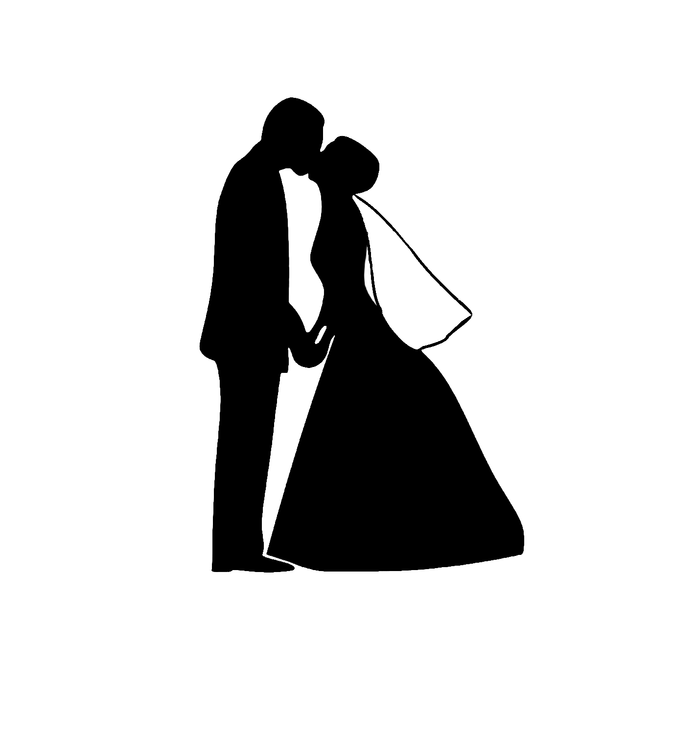 Prom clipart bride groom dance. And dancing silhouette at