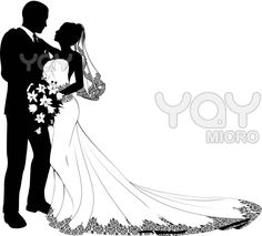 Prom clipart bride groom dance. And clip art silhouettes