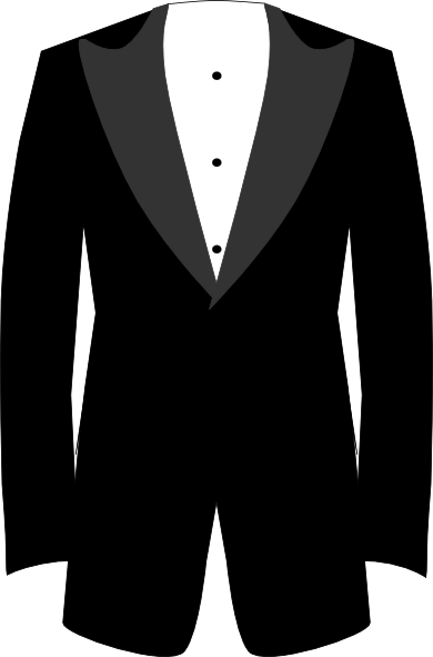 Tuxedo clipart black and white. Clip art at clker