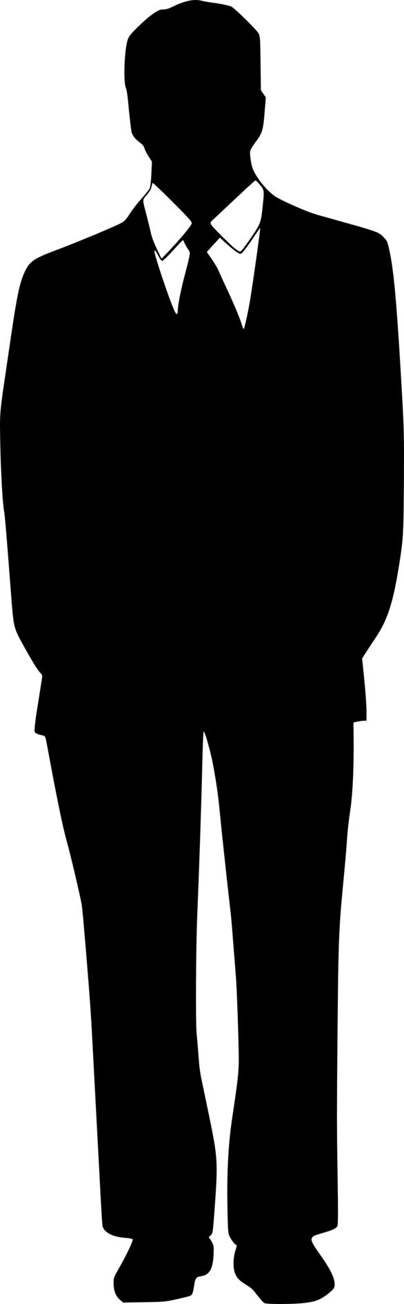 Tuxedo clipart guy. Man in silhouette at