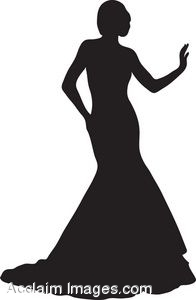 Prom clipart princess gown. Silhouette dress at getdrawings