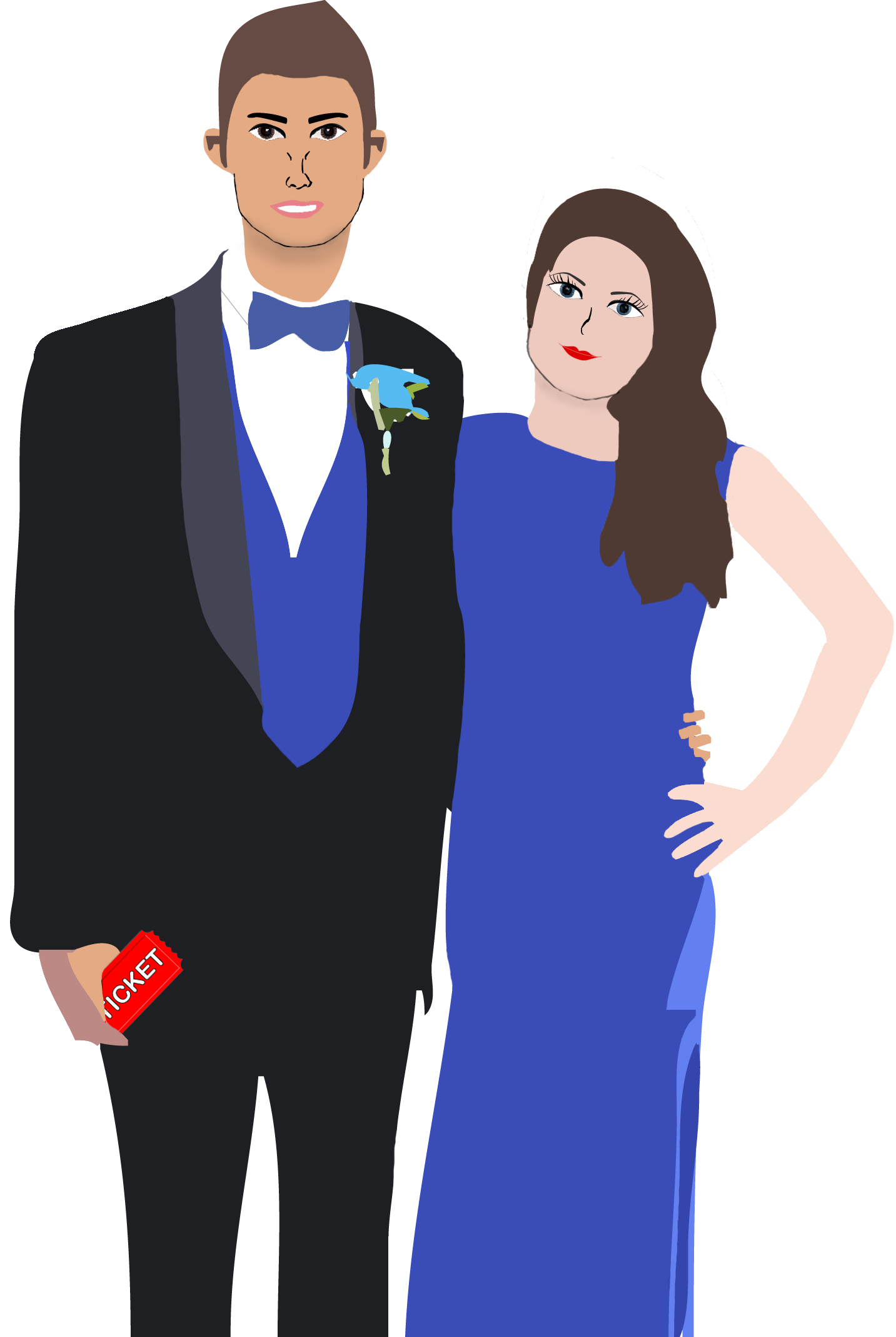 Prom couple png. The story of senior