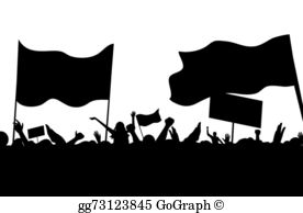 Protest clipart labour strike. Vector workers converted eps