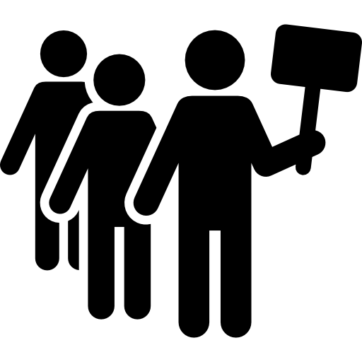 Protest vector activist. Icons free download demo