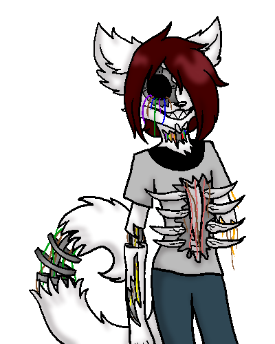 Prototype drawing robot. Gore attempt fursona by