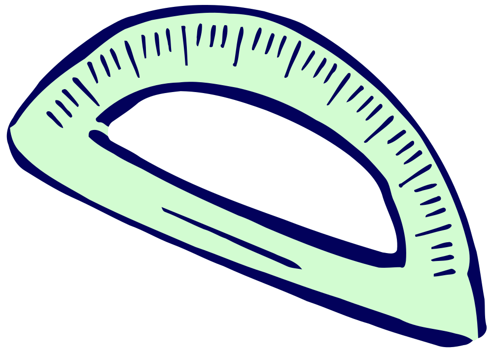 Protractor drawing art. Onlinelabels clip roughly drawn