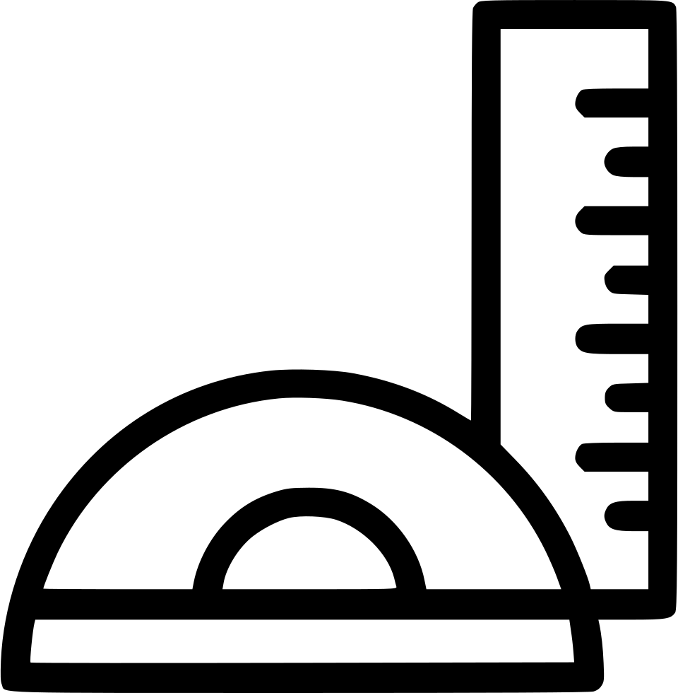 Ruler scale geometry angle. Protractor drawing machine svg free library