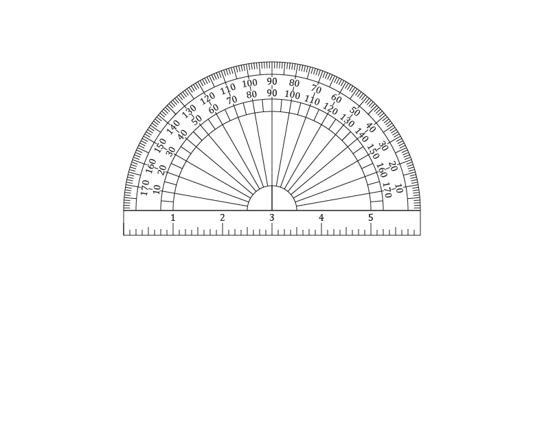 Protractor drawing optical. Printable protractors and ruler