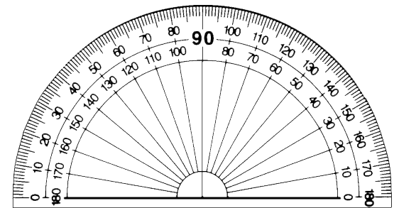Protractor vector transparent. Collection of free angles