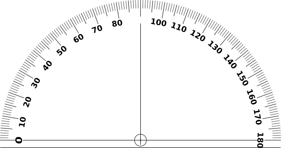 Angle measuring tool types. Protractor drawing machine picture download