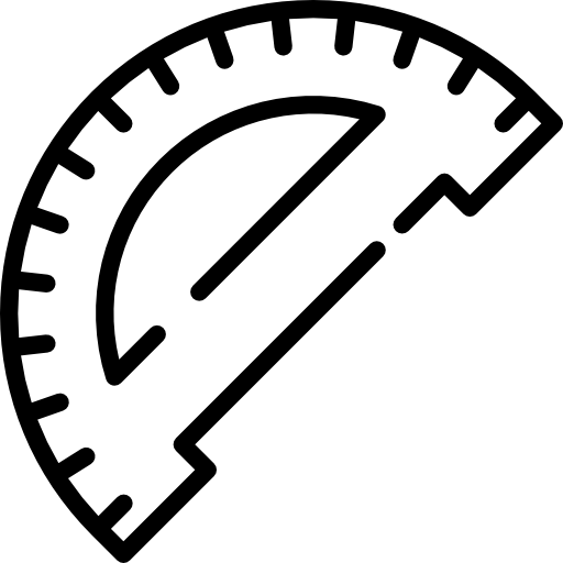 Protractor vector architect. Icons free download demo