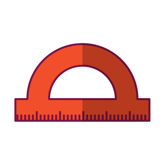 Protractor vector simple. Ruler icon icons by