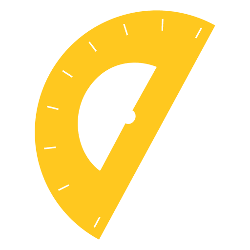 Protractor vector svg. Yellow icon transparent png