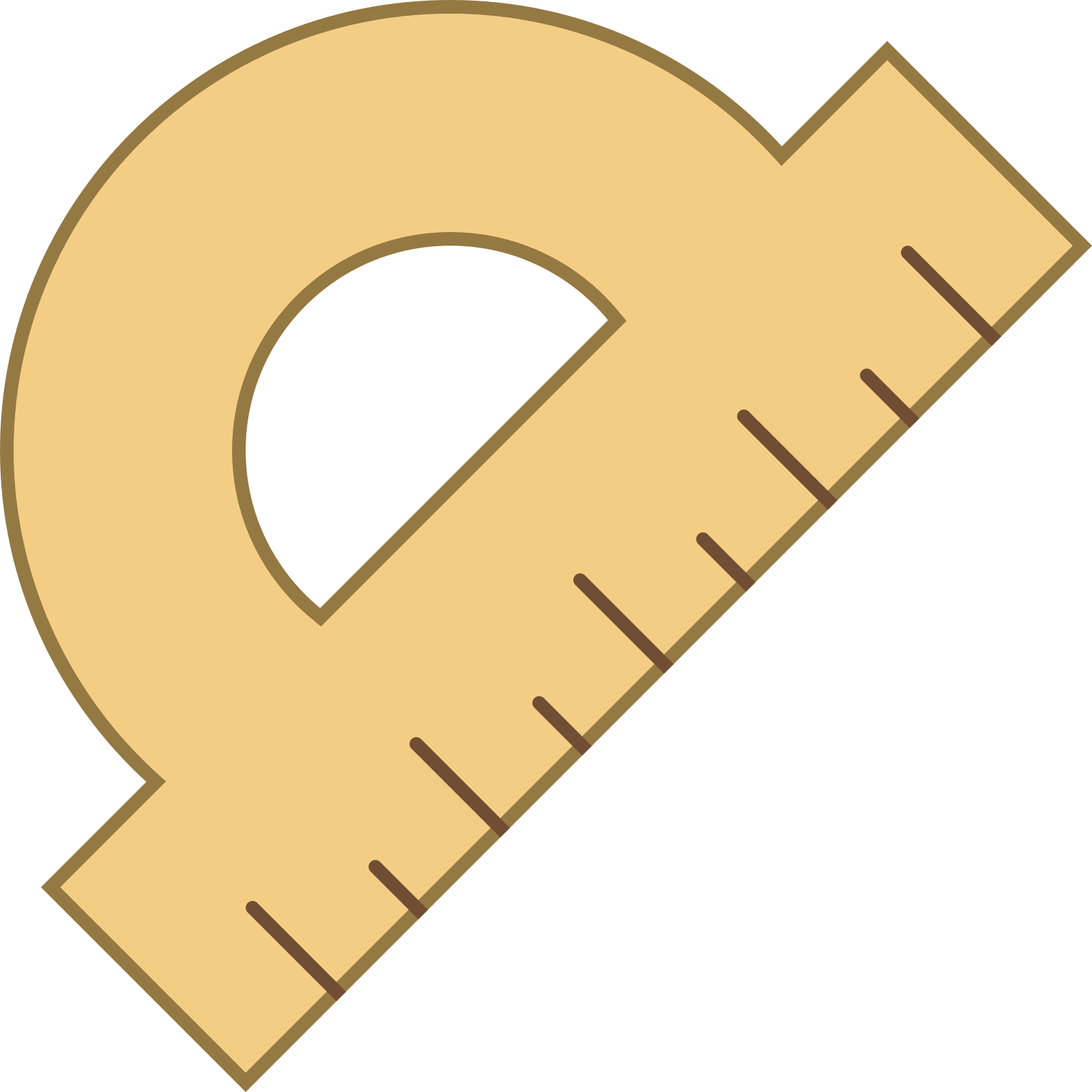 Vector tool office. Measurement icon free download