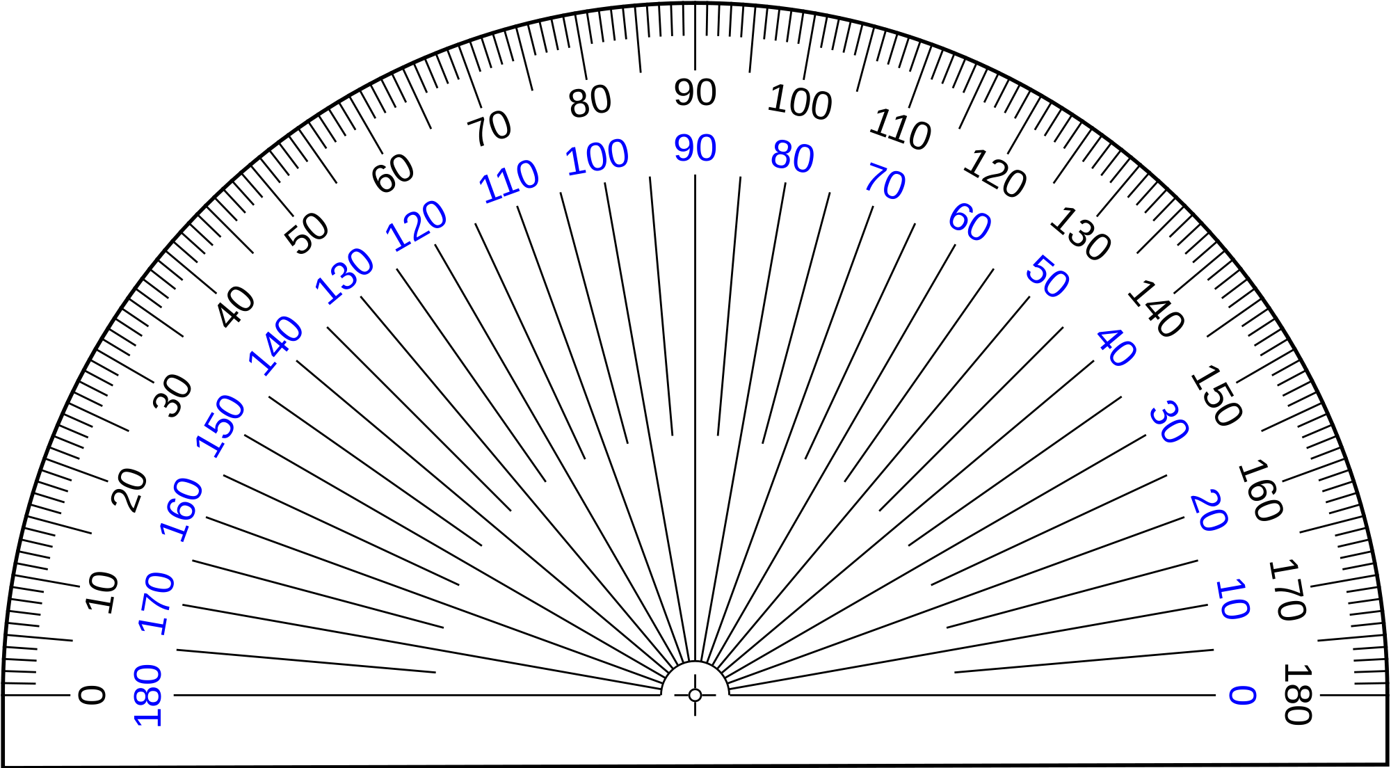 Protractor vector transparent. File rapporteur deg svg