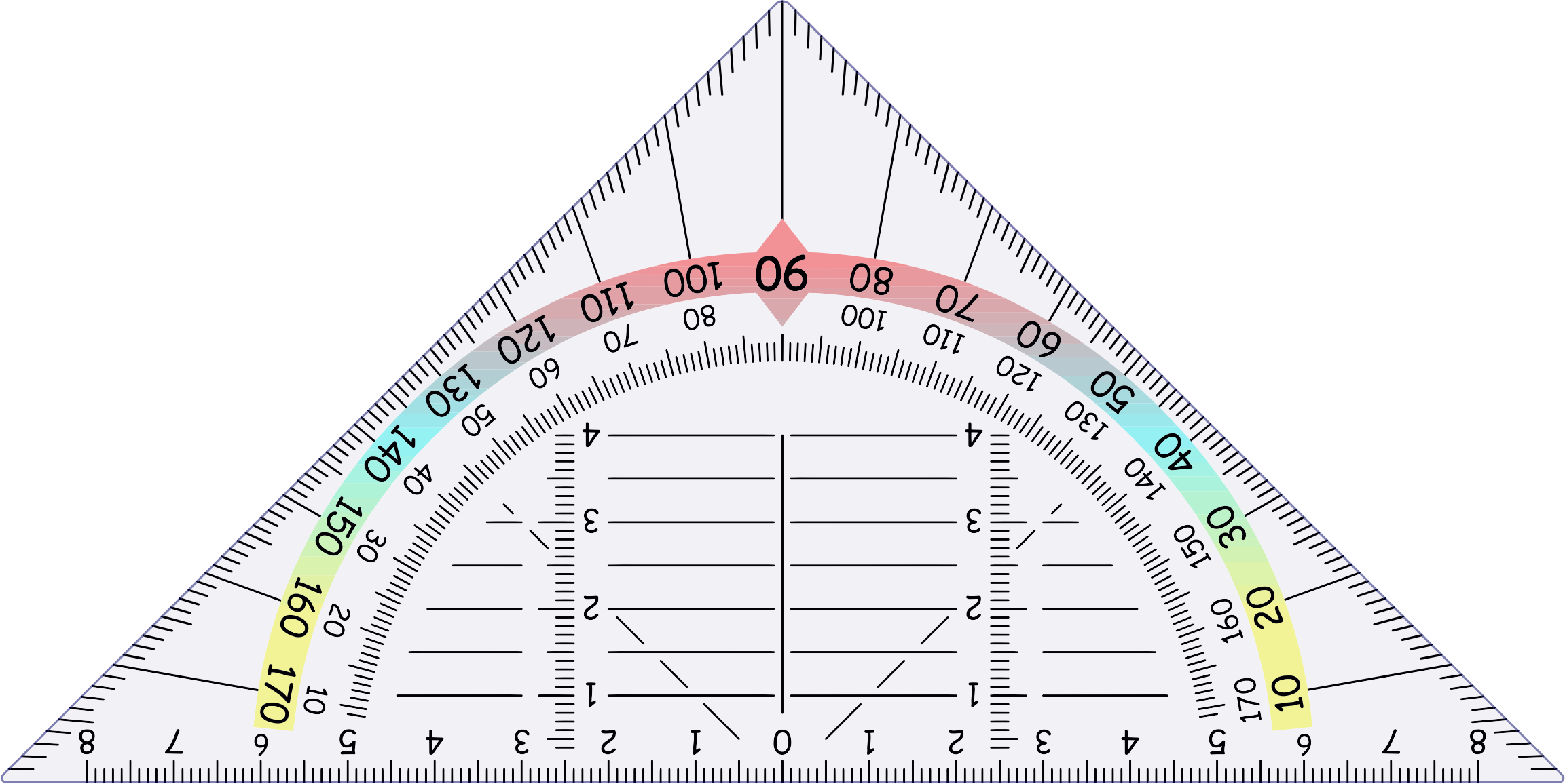 Protractor vector transparent. Triangular icons png free