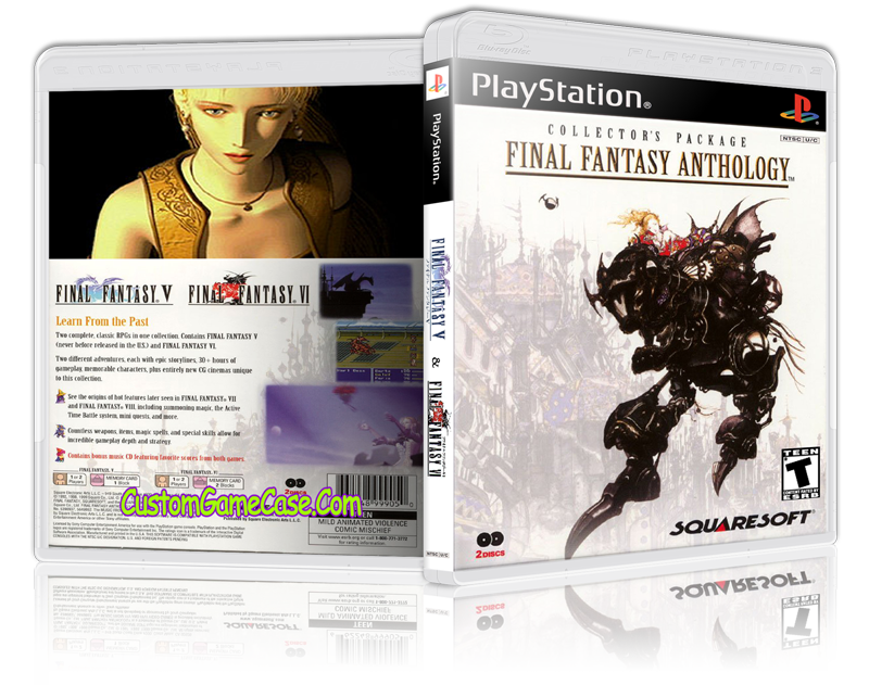 Ps1 final fantasy 5 cover png. Anthology sony playstation psx