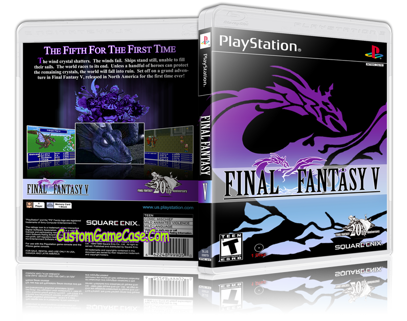 Ps1 final fantasy 5 cover png. V sony playstation psx