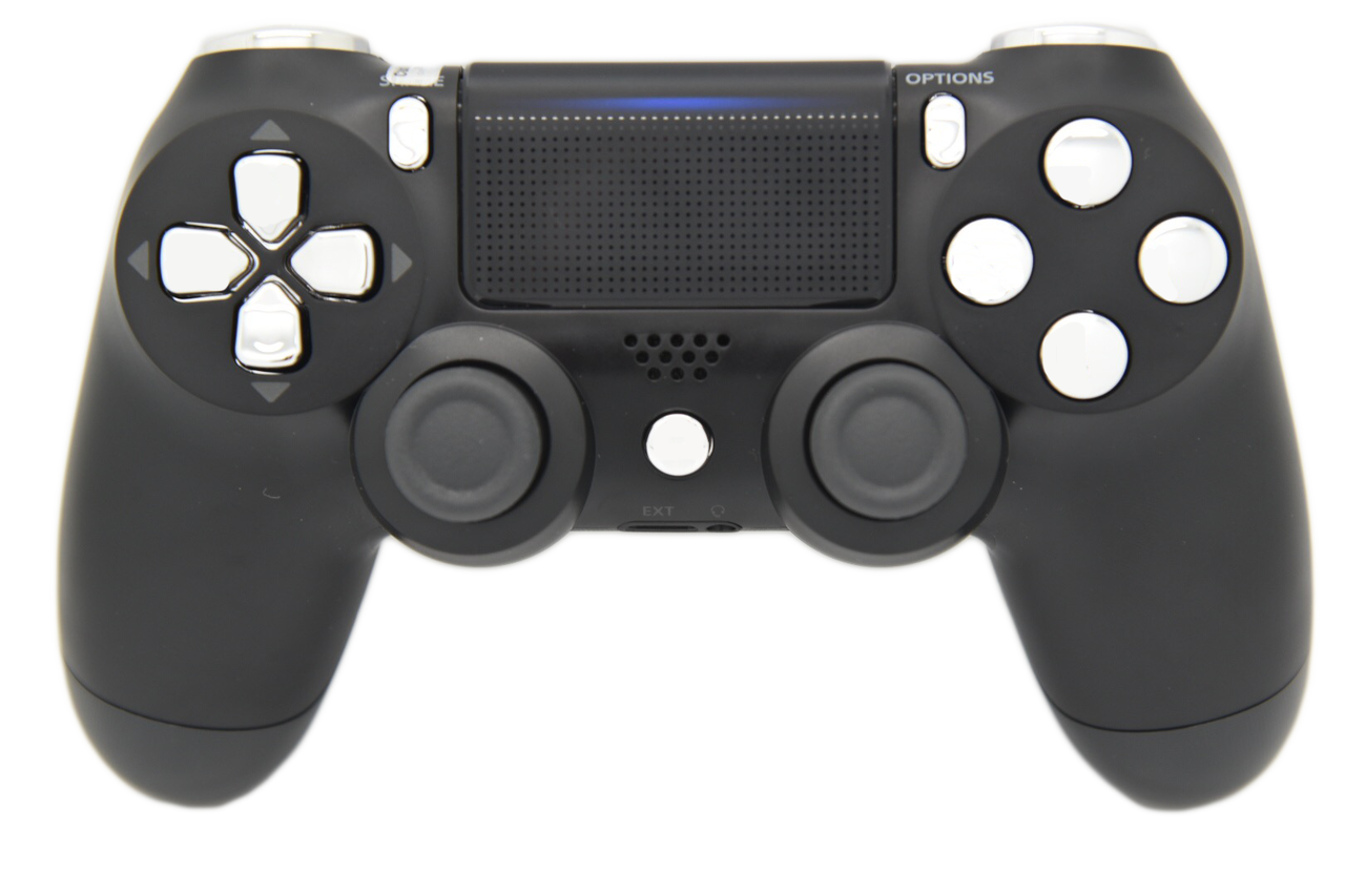 Ps4 controller png. Black silver ps