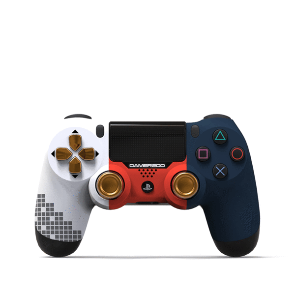 Ps4 controller png. Red white and blue