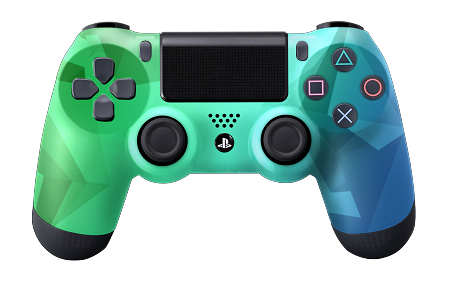 Ps4 controller png. Green fade pro series