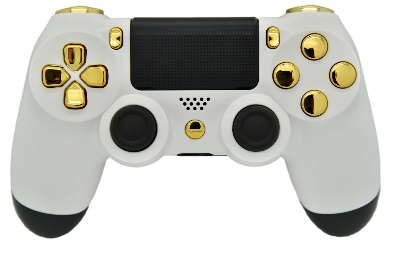 Ps4 controller png. White gold soft touch