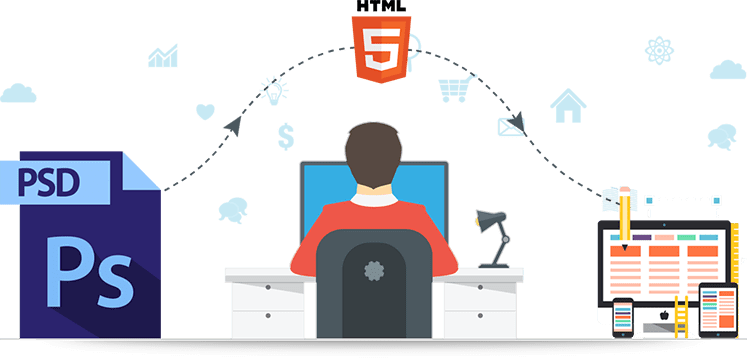 Psd to png converter. What benefits will html