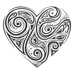 Psychedelic lines heart transparent. Trippy vector image library download