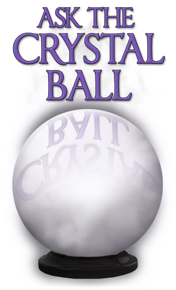 Psychic drawing crystal ball. Collection of high