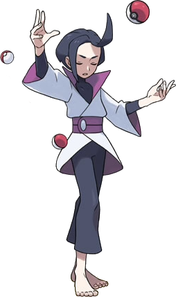 Psychic drawing female. Trainer class pok mon
