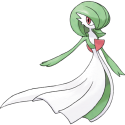 Psychic drawing snake. Gardevoir and fairy type