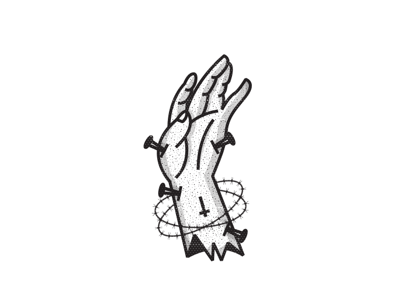 Psychic drawing tattooed hand. Satanic symbols on behance