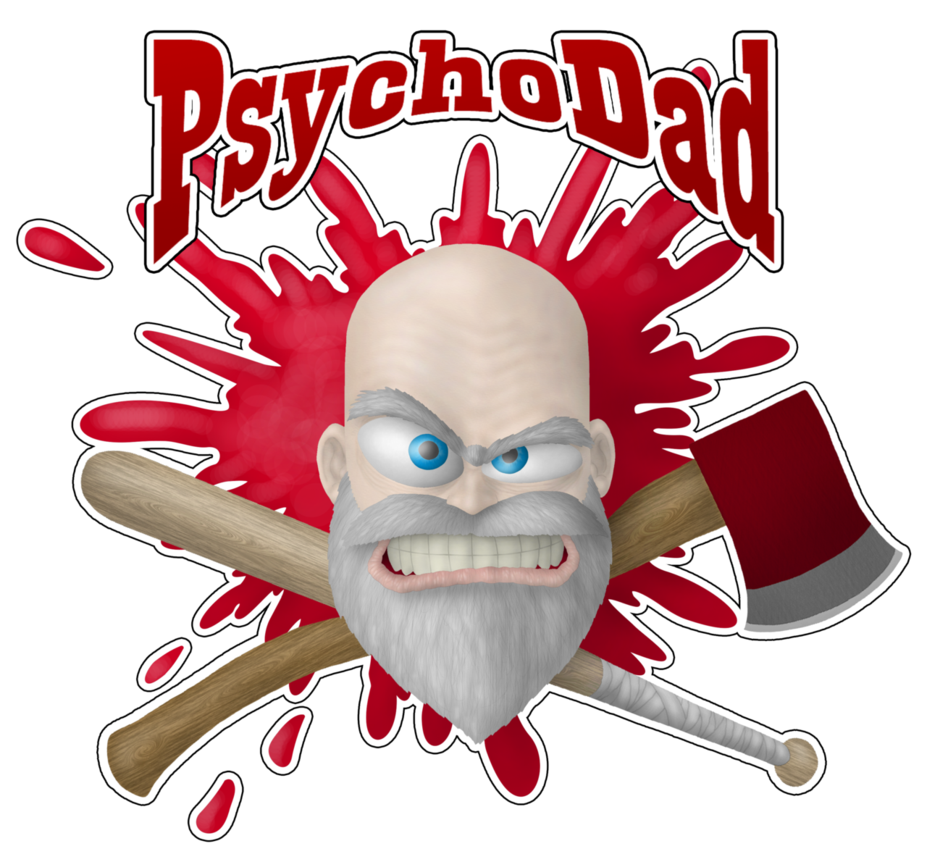 Psycho dad png. Head and gears by
