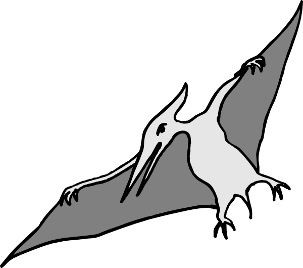pterodactyl transparent monster