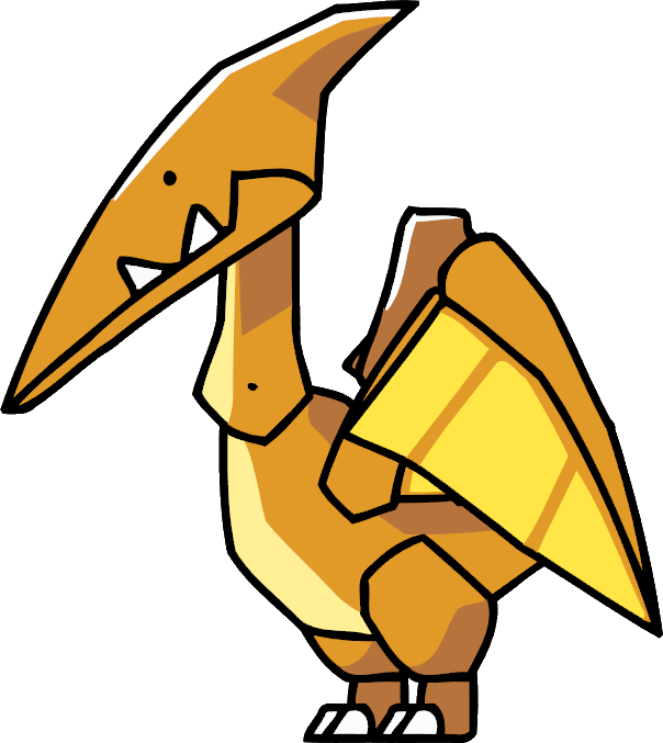 Pterodactyl transparent realistic. Scribblenauts wiki fandom powered
