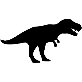 Pterodactyl transparent silhouette. Dinosaur silhouettes t rex