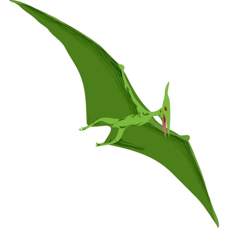 Pterodactyl transparent standing. Free pictures of flying