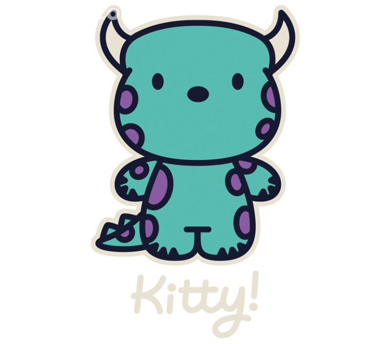 Pi drawing monster. Kitty d i s